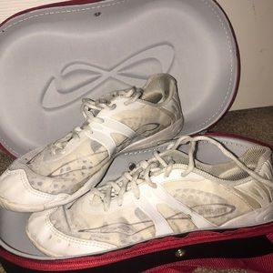 Nfinity cheer shoes only worn for one season.